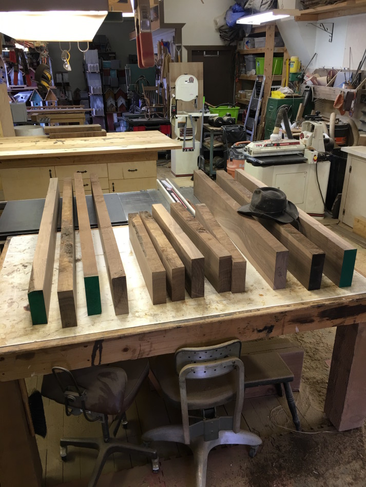 These Beautiful Pieces Of Black Walnut Will Soon Be Transformed Into Custom  Rustic Countertops.